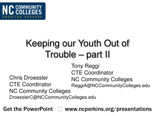 Keeping our Youth Out of Trouble – part II