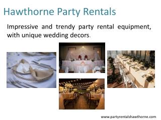 Hawthorne Party Rentals
