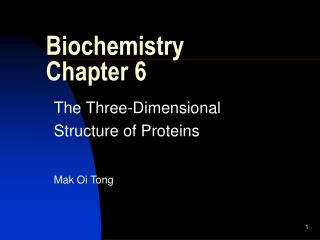 Biochemistry Chapter 6