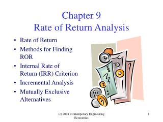 Chapter 9 Rate of Return Analysis