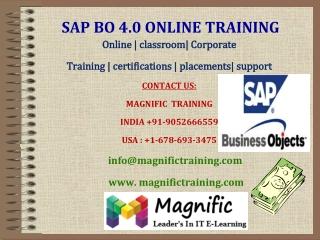 SAP BO 4.0 ONLINE TRAINING