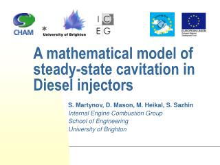 A mathematical model of steady-state cavitation in Diesel injectors