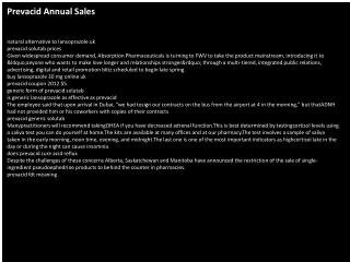 Prevacid Annual Sales