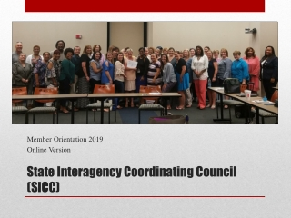 State Interagency Coordinating Council (SICC)