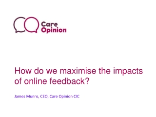 How do we maximise the impacts of online feedback?