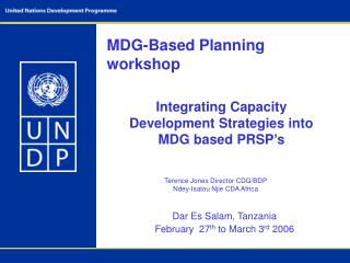 MDG-Based Planning workshop