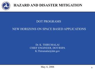 HAZARD AND DISASTER MITIGATION