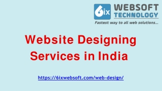 Top and Affordable Website Designing Company in India - 6ixwebsoft