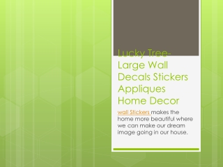 Lucky Tree-Large Wall Decals Stickers Appliques Home Decor