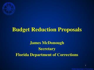 Budget Reduction Proposals