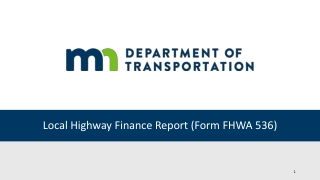 Local Highway Finance Report (Form FHWA 536)