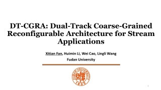 DT-CGRA: Dual-Track Coarse-Grained Reconfigurable Architecture for Stream Applications