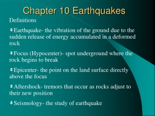 Chapter 10 Earthquakes