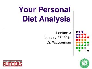 Your Personal Diet Analysis