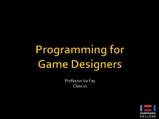 Programming for Game Designers