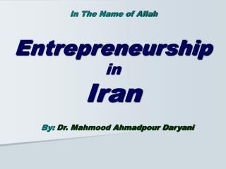 Entrepreneurship in Iran