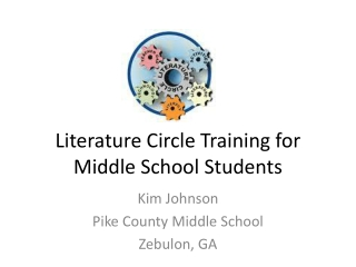 Literature Circle Training for Middle School Students
