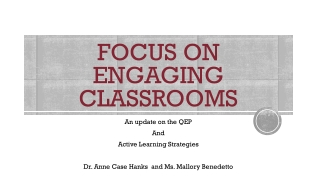 FOCUS on Engaging Classrooms