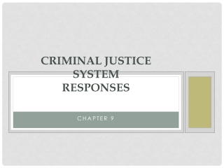 Criminal Justice System Responses