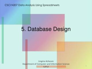 5 . Database Design