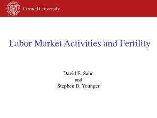 Labor Market Activities and Fertility