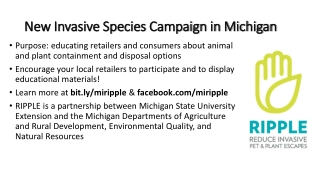 New Invasive Species Campaign in Michigan