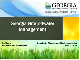 Georgia Groundwater Management