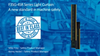F3SG-4SR Series Light Curtain: A new standard in machine safety