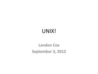 UNIX!