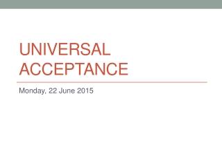 Universal Acceptance