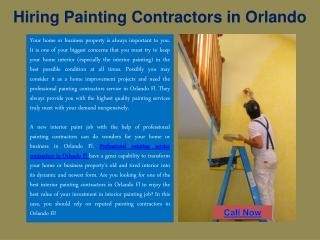 Hiring Painting Contractors in Orlando