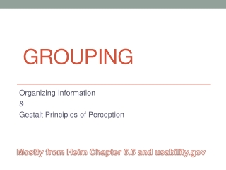 Grouping