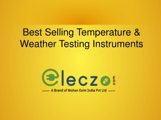 Best Selling Temperature & Weather Testing Instruments