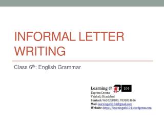 Informal Letter Writing
