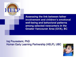 Assessing the link between father involvement and children s emotional well-being and behavioral patterns among selected