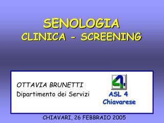 SENOLOGIA CLINICA - SCREENING