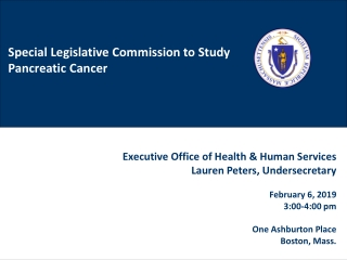 Special Legislative Commission to Study Pancreatic Cancer