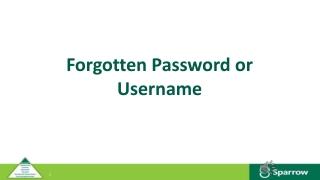 Forgotten Password or Username