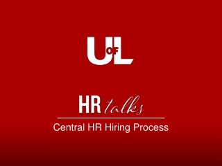 Central HR Hiring Process