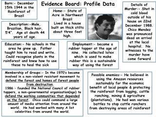 Evidence Board: Profile Data