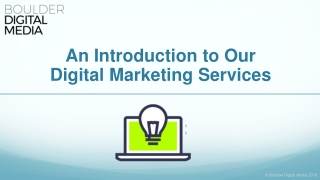 An Introduction to Our Digital Marketing Services