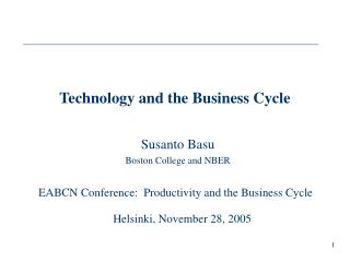 Technology and the Business Cycle