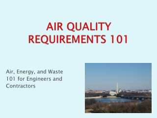 AIR QUALITY REQUIREMENTS 101