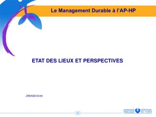 Le Management Durable à l'AP-HP