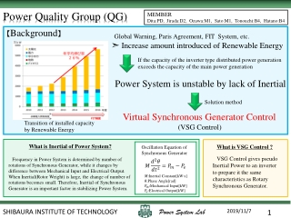 Power Quality Group (QG)
