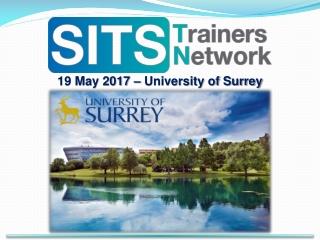 19 May 2017 – University of Surrey