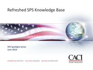Refreshed SPS Knowledge Base