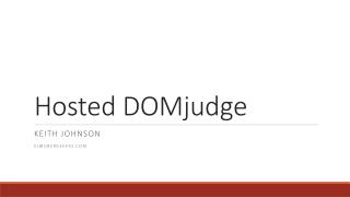 Hosted DOMjudge
