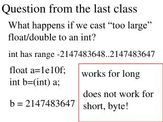Question from the last class
