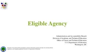 Eligible Agency